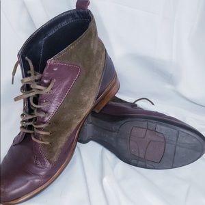 Naot Mistral Shiraz Leather Hash Suede FR Leather